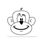 How to Draw a Monkey Head for Kids