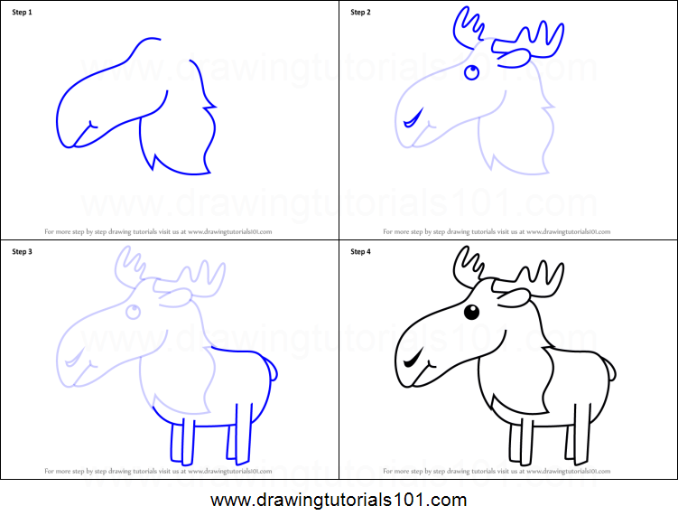 How to draw a moose for kids printable step by step drawing sheet how to draw a moose for kids thecheapjerseys Gallery