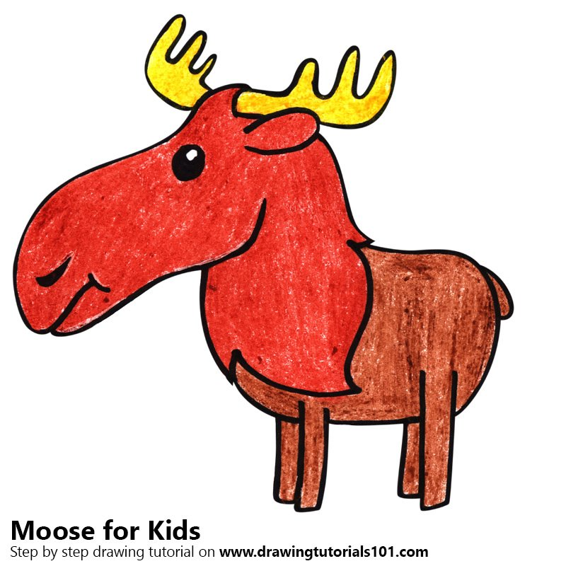 Learn how to draw a moose for kids animals for kids step by step how to draw a moose for kids thecheapjerseys Gallery