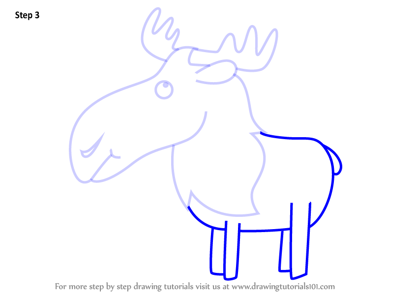 Learn how to draw a moose for kids animals for kids step by step how to draw a moose for kids step 1 step 2 step 3 thecheapjerseys Images