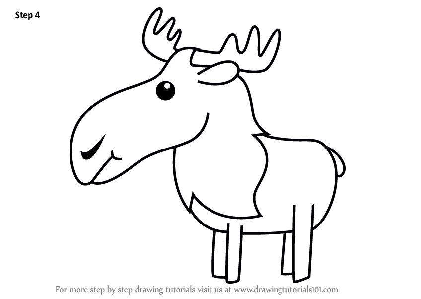 Learn how to draw a moose for kids animals for kids step by step shop related products thecheapjerseys Images