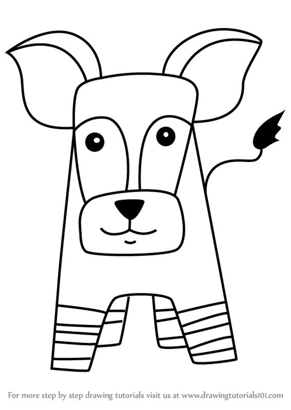 Learn How To Draw An Okapi For Kids Animals For Kids