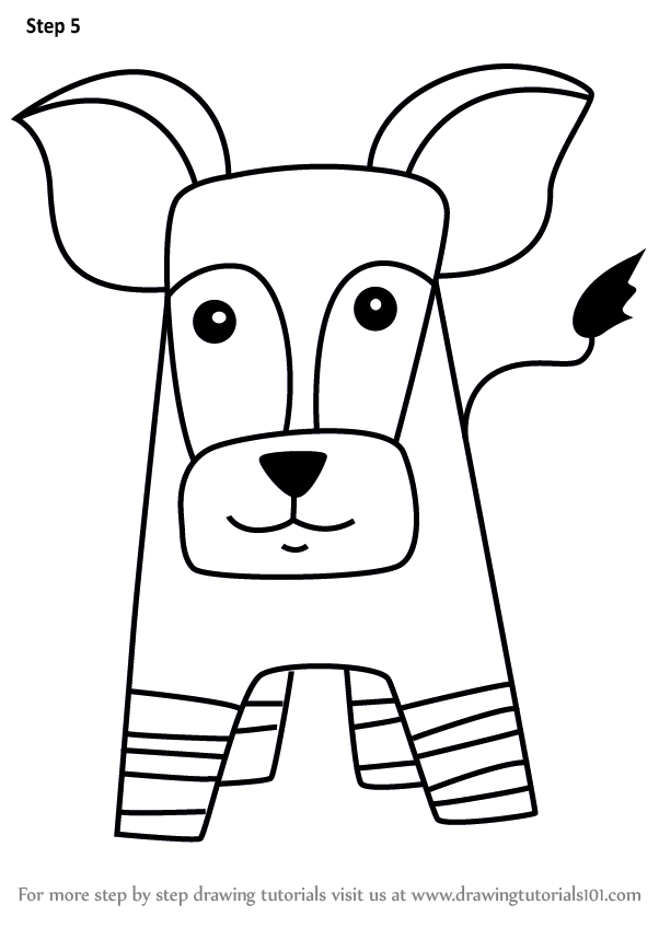 Learn how to draw an okapi for kids animals for kids for Okapi coloring page