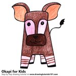 How to Draw an Okapi for Kids