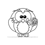 How to Draw Owl with Rose