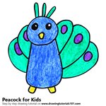 How to Draw a Peacock for Kids Very Easy
