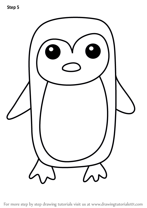 Learn How to Draw a Penguin for Kids Easy (Animals for ...