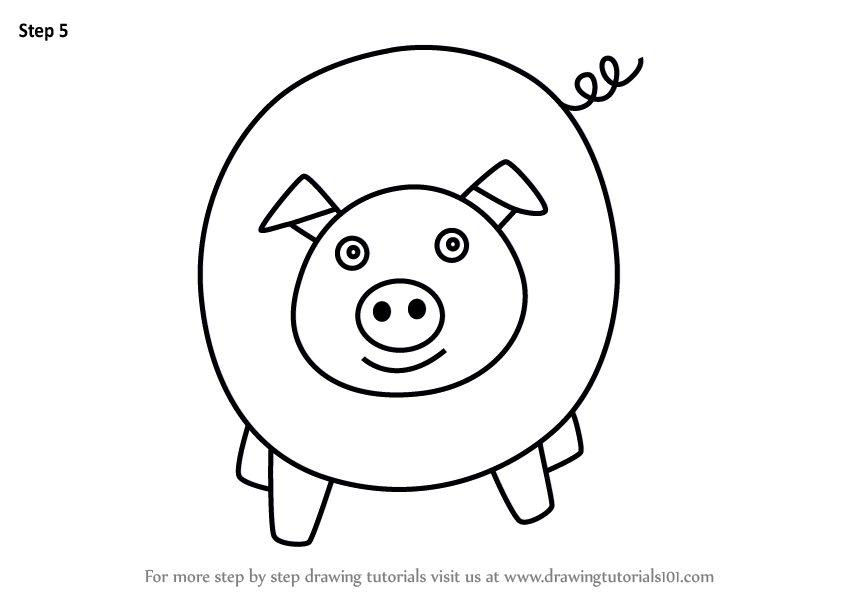 Learn How to Draw a Pig for Kids Easy (Animals for Kids ...