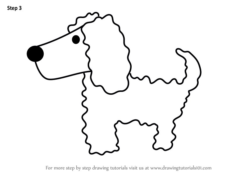 Learn How To Draw A Poodle Dog For Kids Animals For Kids