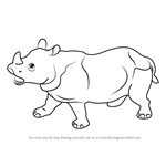 How to Draw Rhino for Kids