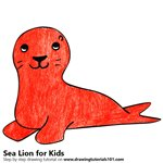 How to Draw a Sea Lion for Kids