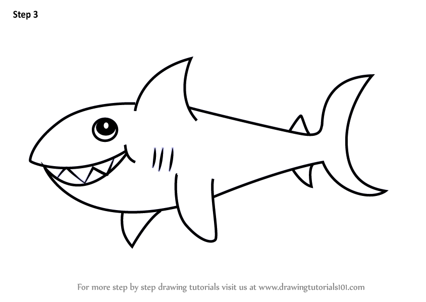 Learn How to Draw a Shark for Kids (Animals for Kids) Step ...  Learn How to Dr...