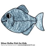 How to Draw a Silver Dollar Fish for Kids