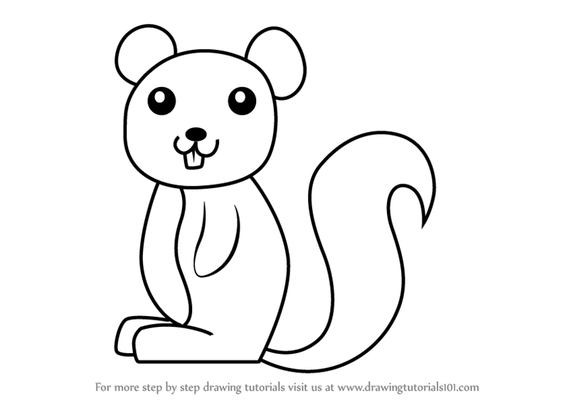 Learn How to Draw a Squirrel for Kids (Animals for Kids ...