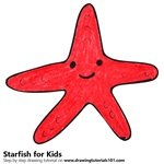 How to Draw a Starfish for Kids