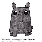 How to Draw a Tapir for Kids