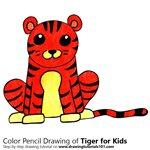 How to Draw a Tiger for Kids Easy