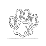 How to Draw a Tiger Paw