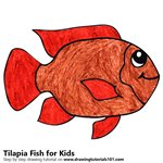 How to Draw a Tilapia Fish for Kids