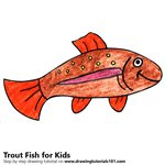 How to Draw a Trout Fish for Kids