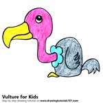 How to Draw a Vulture for Kids