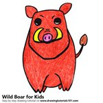 How to Draw a Wild Boar for Kids Very Easy