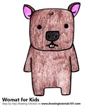 How to Draw a Wombat for Kids