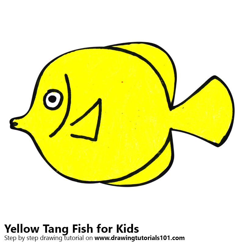 yellow tang coloring pages - photo#46