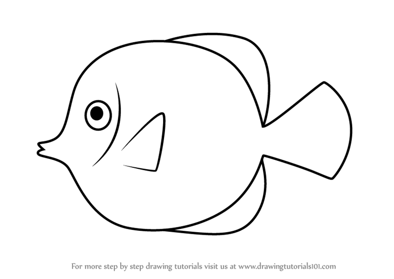 yellow tang coloring pages - photo#8
