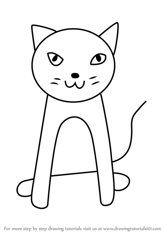 how to draw a cat steps