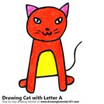 How to Draw a Cat from Letter A