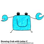 How to Draw a Crab from Letter C