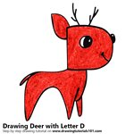 How to Draw a Deer from Letter D