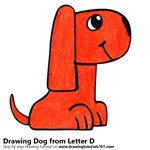 How to Draw a Dog from Letter D