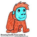 How to Draw a Gorilla from Letter G