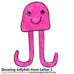 How to Draw a Jellyfish from Letter J