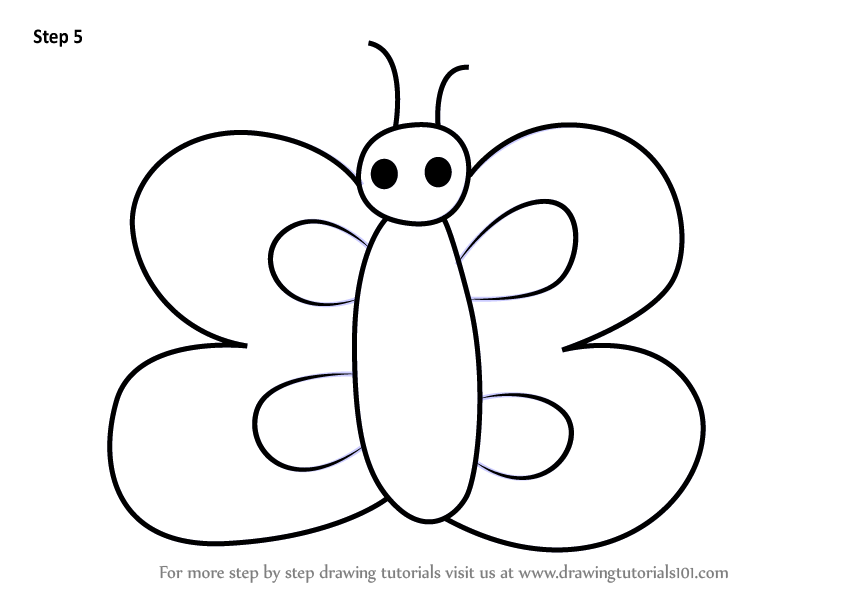 Learn How To Draw A Butterfly Using Number 3 Animals With Numbers