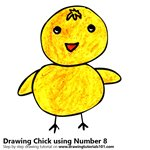 How to Draw a Chick using Number 8