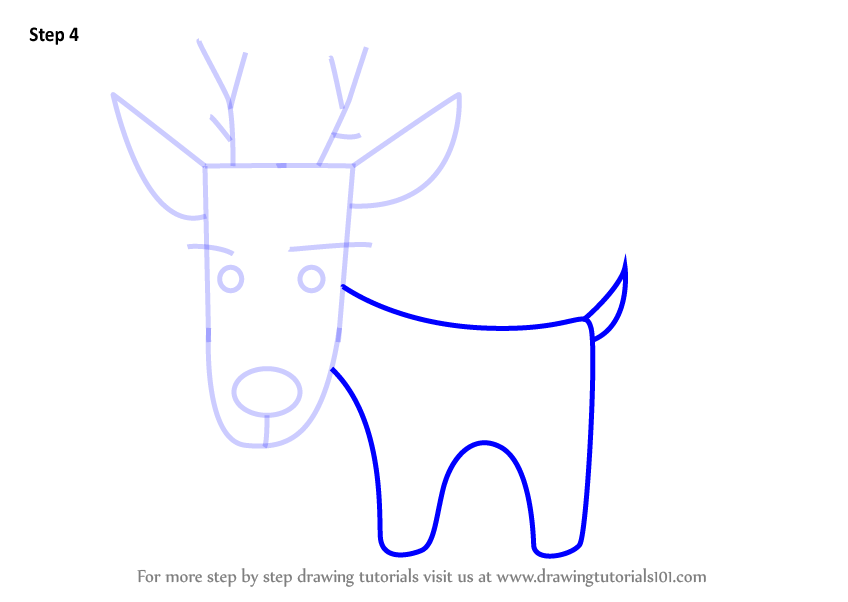 Learn How To Draw A Deer Using Number 17 Animals With Numbers Step By Step Drawing Tutorials