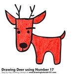 How to Draw a Deer using Number 17
