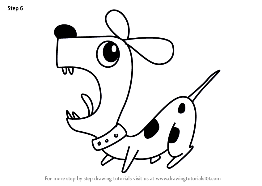 Learn How To Draw A Dog Using Number 5 Animals With Numbers Step