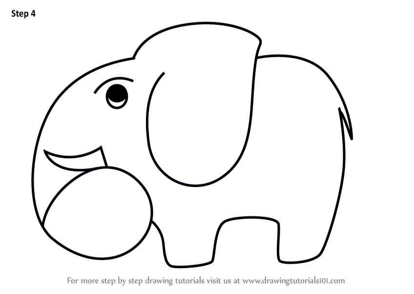 Step by Step How to Draw a Elephant using Number 6 ...