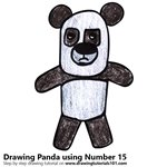 How to Draw a Panda using Number 15
