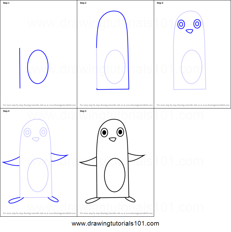 How To Draw A Penguin Using Number 10 Printable Step By Step Drawing