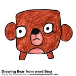 How to Draw a Bear from word Bear