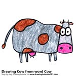 How to Draw a Cow from word Cow
