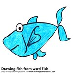 How to Draw a Fish from word Fish