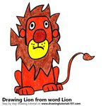 How to Draw a Lion from word Lion