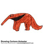 How to Draw a Cartoon Anteater