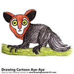 How to Draw a Cartoon Aye-Aye